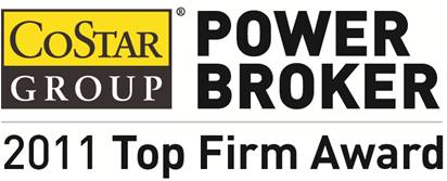 DAUM COMMERCIAL REAL ESTATE SERVICES HONORED WITH 2011 COSTAR POWER BROKER AWARD
