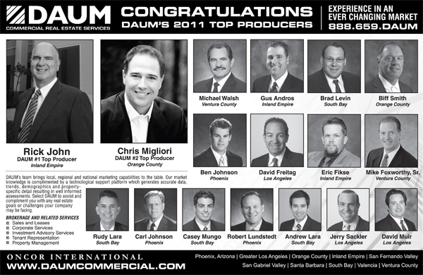 DAUM CONGRATULATES ITS 2011 PRESIDENTS CLUB QUALIFIERS