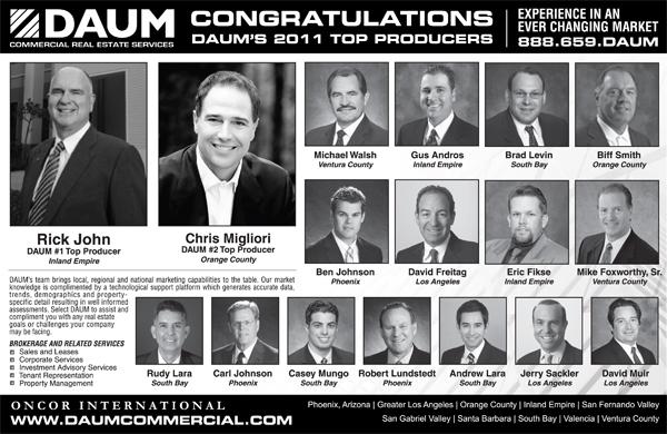 DAUM CONGRATULATES ITS 2011 PRESIDENTS CLUB QUALIFIERS